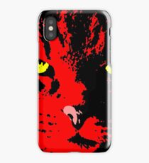 ANGRY CAT POP ART - RED BLACK YELLOW TRASPARENT iPhone Case/Skin