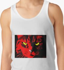 ANGRY CAT POP ART - RED YELLOW BLACK Tank Top