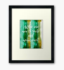 Eco watercolor Framed Print