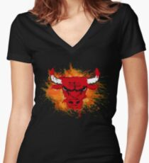BASKET BULL Women's Fitted V-Neck T-Shirt