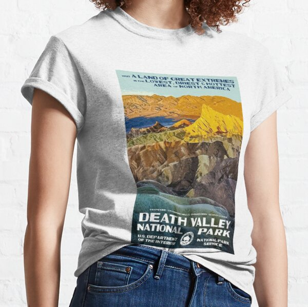 Death Valley National Park Service Vintage Travel Decal Classic T-Shirt