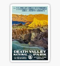Death Valley National Park Service Vintage Travel Decal Sticker