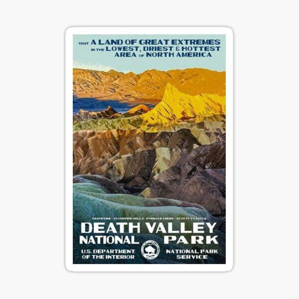 Death Valley National Park Service Vintage Travel Decal Sticker