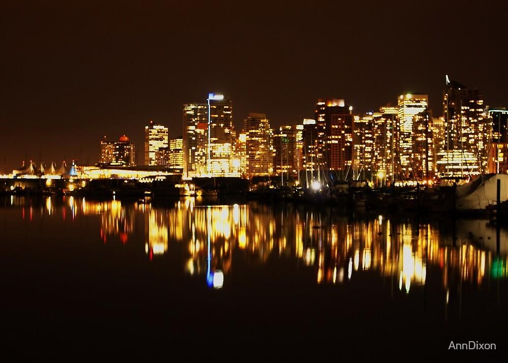 Vancouver Skyline by AnnDixon