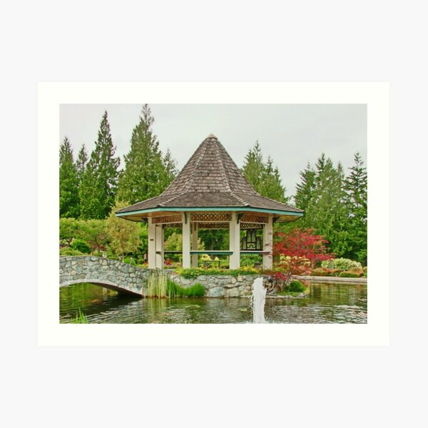 Gazebo & Bridge Art Print