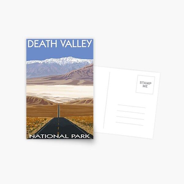 Death Valley National Park Highway Vintage Travel Decal Postcard