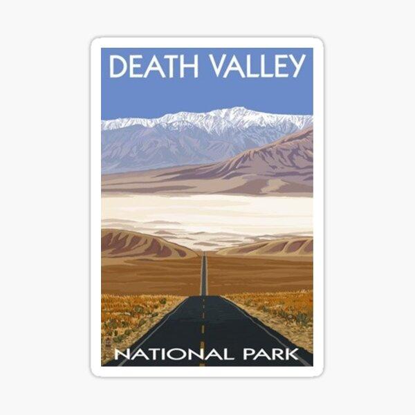 Death Valley National Park Highway Vintage Travel Decal Sticker