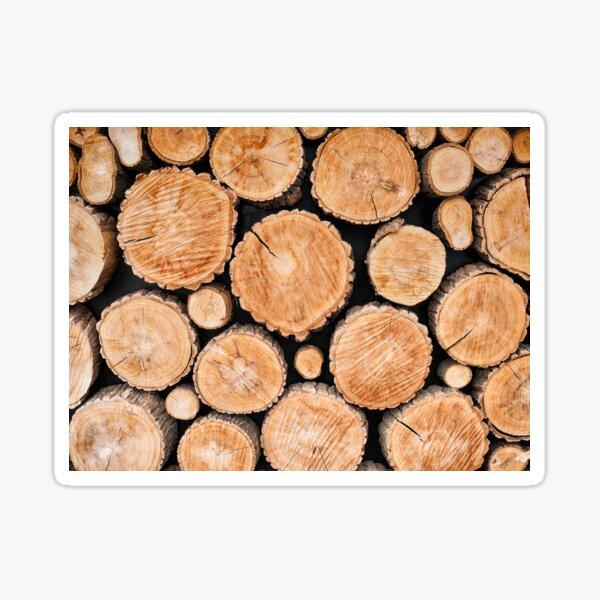 Wood logs background Sticker