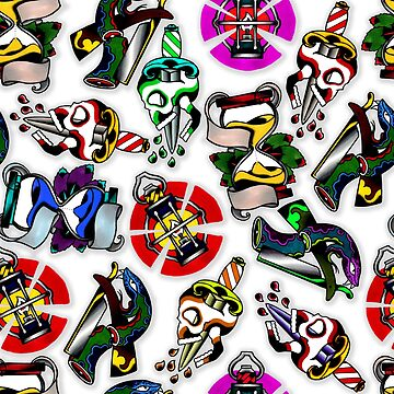 Traditional Tattoo Flash Compilation by BloodyMarvelous