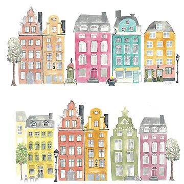Stockholm houses by annahedeklint