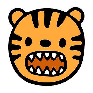 Pretty tiger head by fourretout