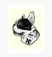 Tattooed French Bulldog Art Print