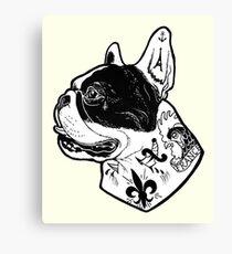 Tattooed French Bulldog Canvas Print