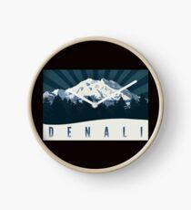 Denali National Park Mount McKinley Vintage Travel Decal Clock