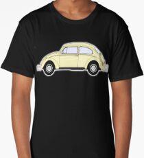 VW, Volkswagen, Beetle, Bug, Motor, Car, Cream Long T-Shirt
