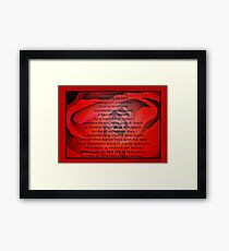 A Beating Heart Lay Resting - Greeting Card Framed Print