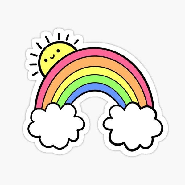 Sonnenschein und Regenbogen Sticker