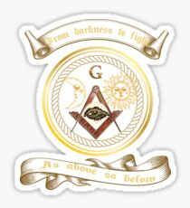 Freemason Masonic Symbol Square & Compass Logo T-Shirt  Sticker