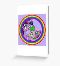 my little pony twilight and spike Greeting Card