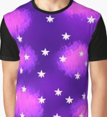 Purple Clouds and Stars Graphic T-Shirt