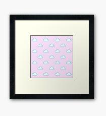 Cute Cloud Pattern Framed Print