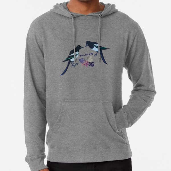 Two magpies Lightweight Hoodie