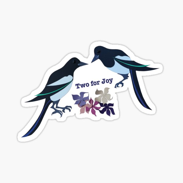 Two magpies Sticker