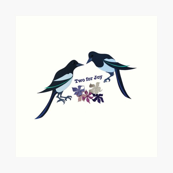 Two magpies Art Print