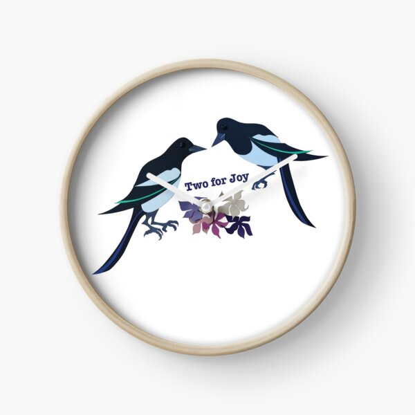 Two magpies Clock