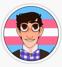 trans davey jacobs Sticker