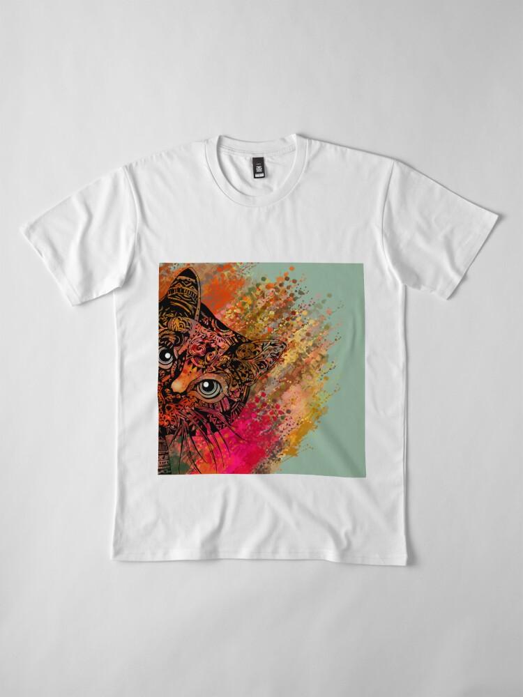 Vista alternativa de Camiseta premium Cat Mandala