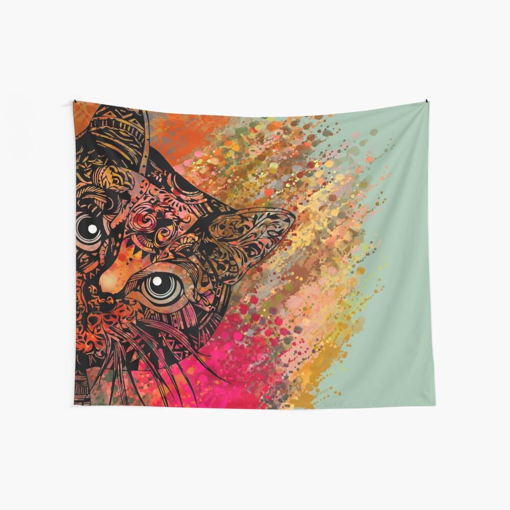 Katzen-Mandala Wandbehang