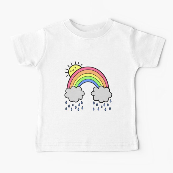 Rainbow Above the Clouds Baby T-Shirt