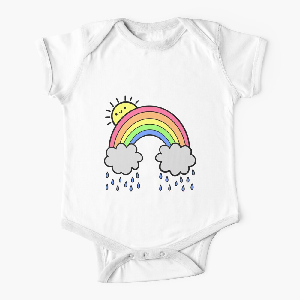 Rainbow Above the Clouds Baby One-Piece