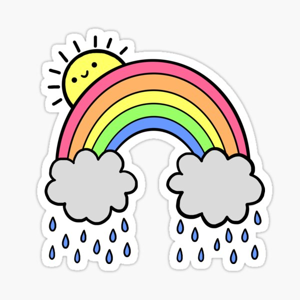 Rainbow Above the Clouds Sticker