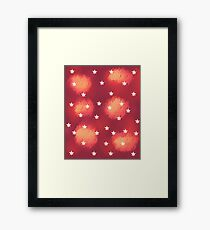 Orange Clouds and Stars Framed Print