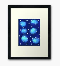Blue Clouds and Stars Framed Print