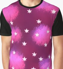 Pink Clouds and Stars Graphic T-Shirt