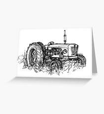 David Brown Tractor Greeting Card