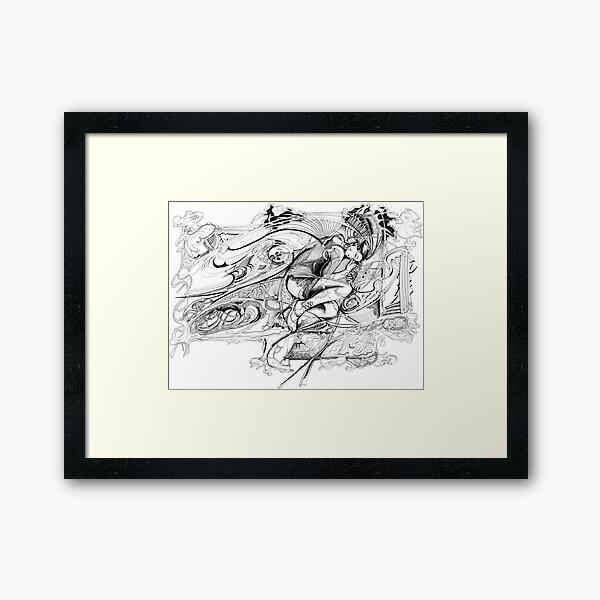 Dragonfly Girl Framed Art Print