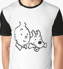 Tintin And Milou Merchandise Graphic T-Shirt