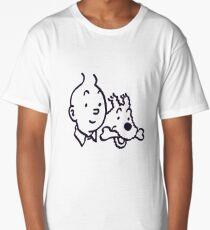 Tintin And Milou Merchandise Long T-Shirt