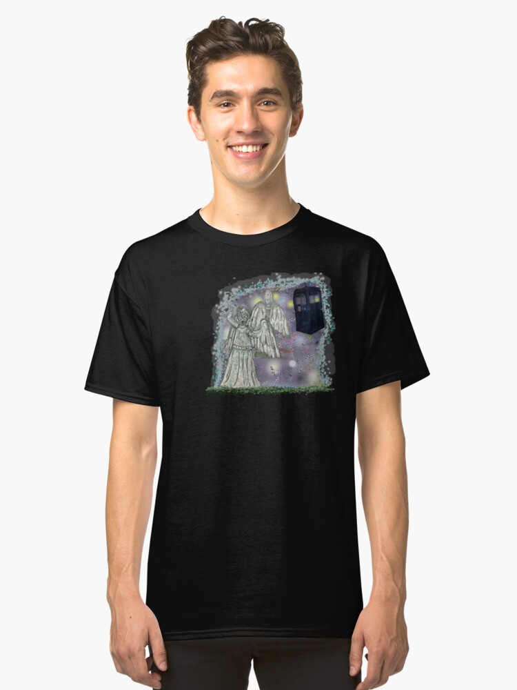 Don't blink weeping angels Classic T-Shirt Front