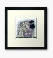 Don't blink weeping angels Framed Print