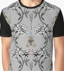 Grey peony garden Graphic T-Shirt