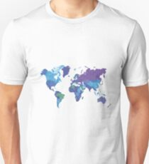 World Map Colourful Unisex T-Shirt