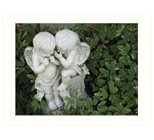 Whispering Cherubs Art Print