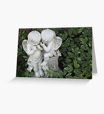 Whispering Cherubs Greeting Card
