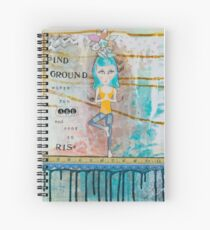 Yoga Art/ Tree Pose Spiral Notebook