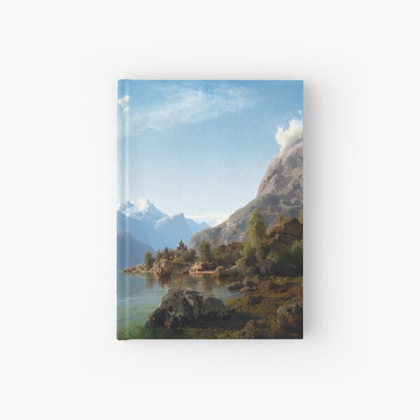 Adolph Tidemand & Hans Gude Bridal Procession on the Hardangerfjord Hardcover Journal